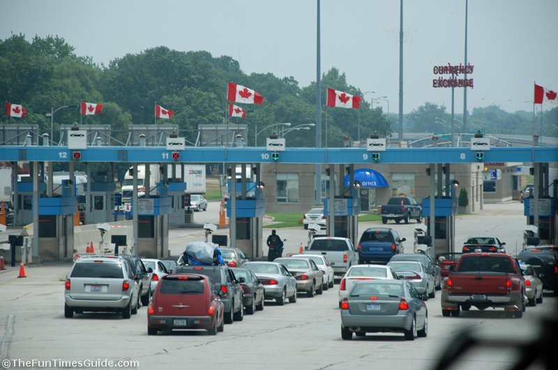 Canada USA border crossing