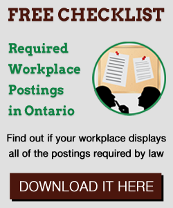 Required workplace postings Ontario